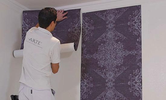 comment poser du papier peint film d 39 instruction support technique collections hookedonwalls. Black Bedroom Furniture Sets. Home Design Ideas